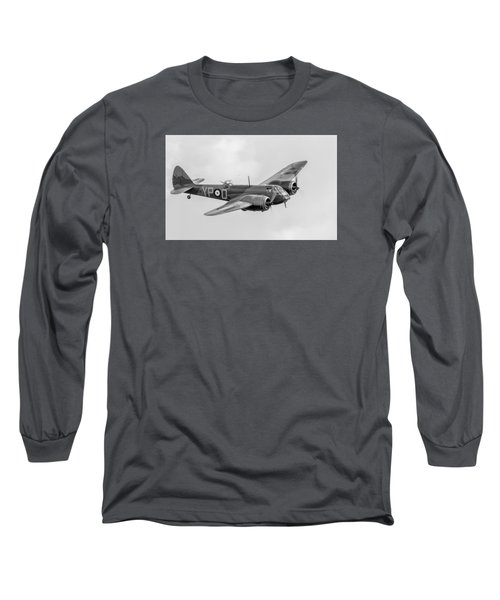 Blenheim Mk I Black And White Version Long Sleeve T-Shirt