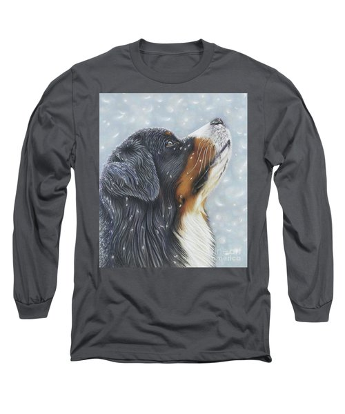 Long Sleeve T-Shirt featuring the painting Blissful Blue  by Donna Mulley