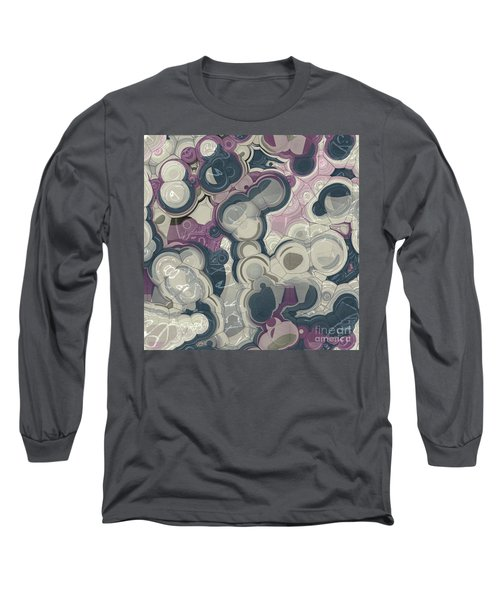 Long Sleeve T-Shirt featuring the digital art Blobs - 01c01 by Variance Collections