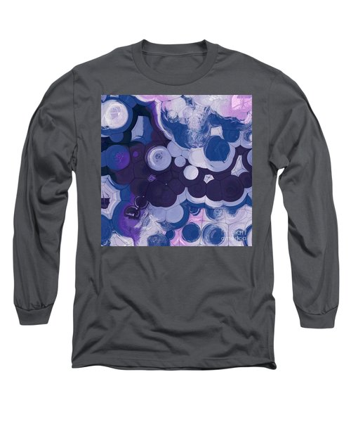 Long Sleeve T-Shirt featuring the digital art Blobs - 11c2b by Variance Collections