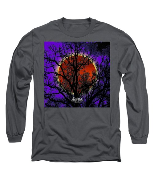 Blood Moon Trees Long Sleeve T-Shirt by Barbara Tristan