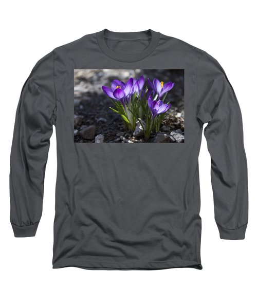 Long Sleeve T-Shirt featuring the photograph Blooming Crocus #2 by Jeff Severson