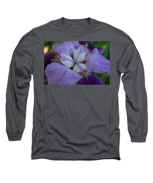 Long Sleeve T-Shirt featuring the digital art Blooming Iris by Barbara S Nickerson