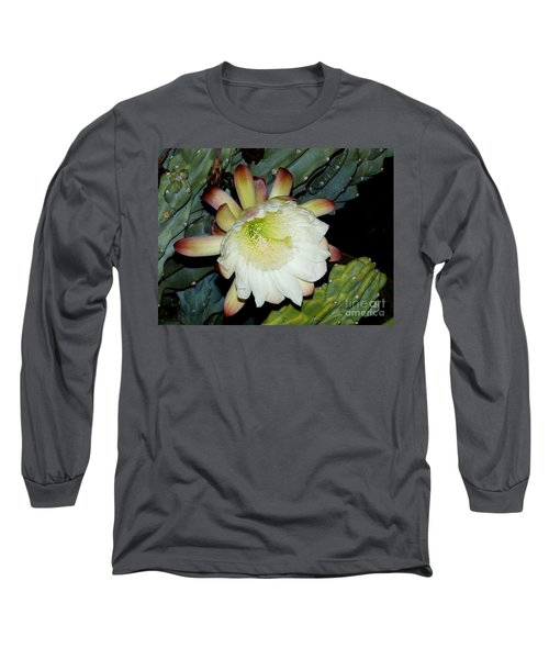 Blooming Night Cereus Long Sleeve T-Shirt