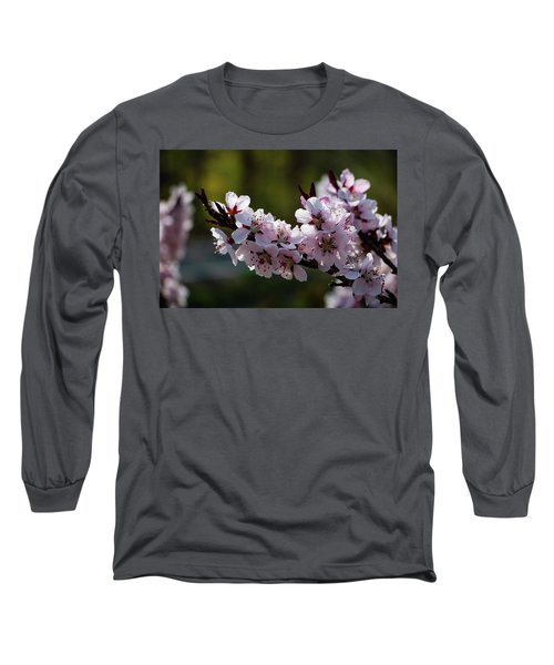 Blooming Peach Tree Long Sleeve T-Shirt
