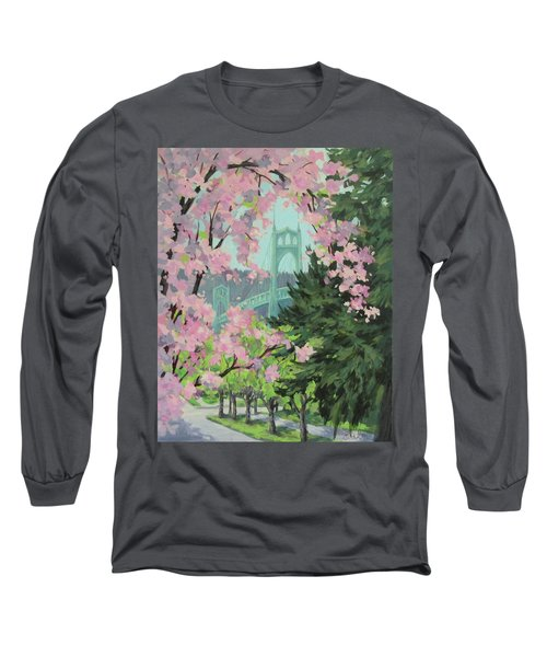 Blossoming Bridge Long Sleeve T-Shirt