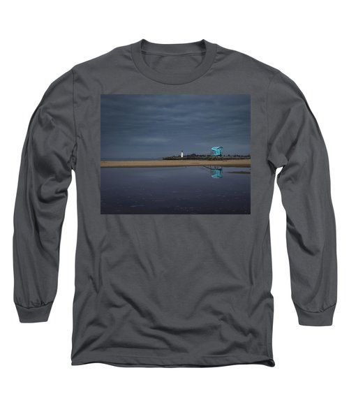 Long Sleeve T-Shirt featuring the photograph Blue And Grey by Lora Lee Chapman