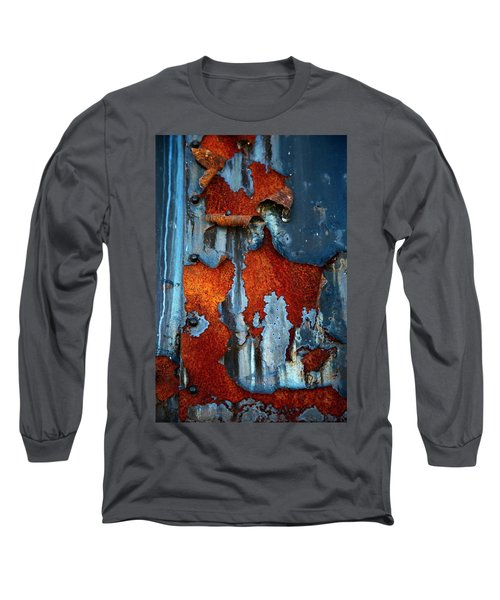 Long Sleeve T-Shirt featuring the photograph Blue And Rust by Karol Livote