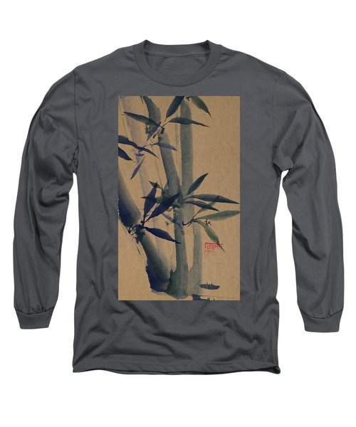 Blue Bamboo Long Sleeve T-Shirt by Robin Miller-Bookhout