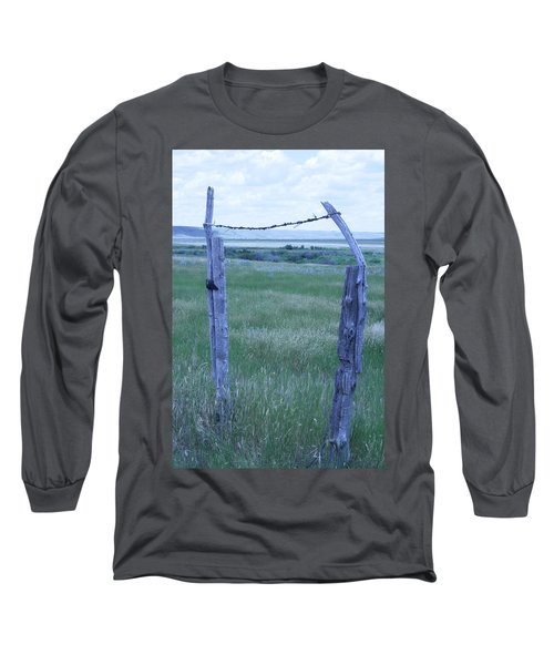 Blue Barbwire Long Sleeve T-Shirt