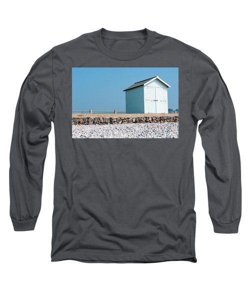 Blue Beach Hut Long Sleeve T-Shirt