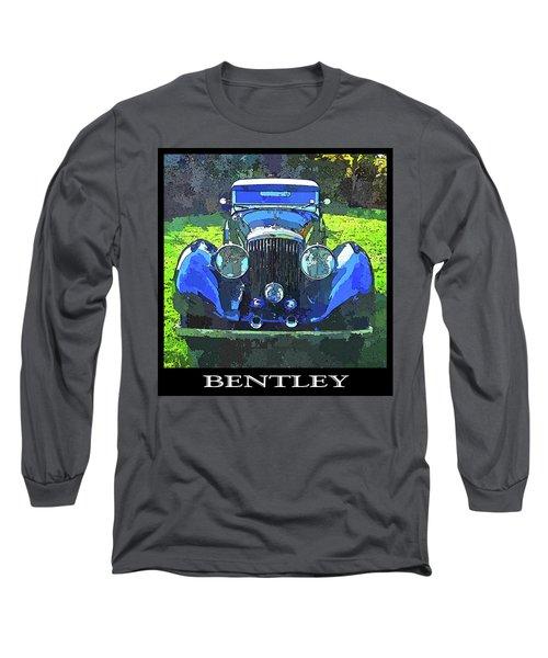Blue Bentley Pop Title Long Sleeve T-Shirt