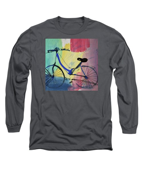 Blue Bicycle Long Sleeve T-Shirt