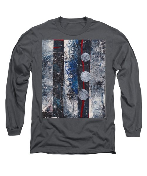 Blue Black Collage Long Sleeve T-Shirt