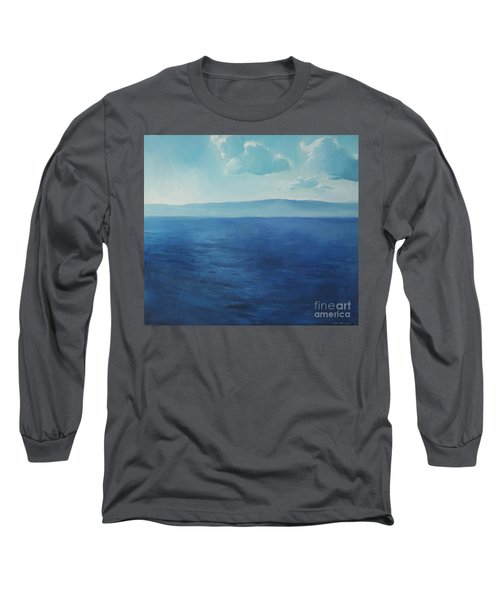 Blue Blue Sky Over The Sea  Long Sleeve T-Shirt