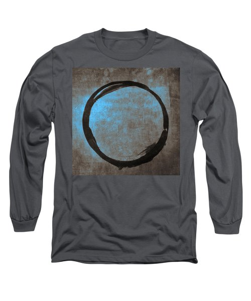 Blue Brown Enso Long Sleeve T-Shirt