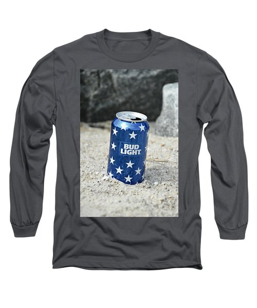Blue Bud Light Long Sleeve T-Shirt