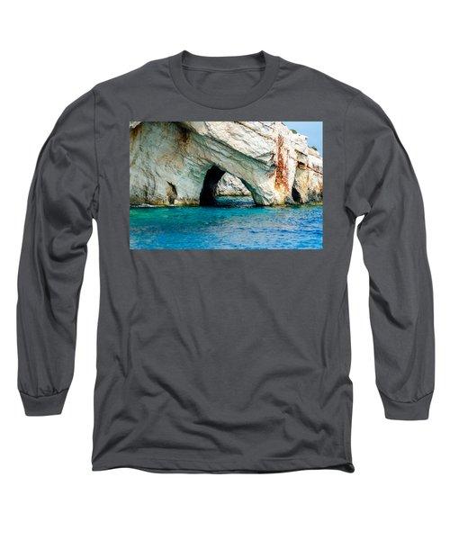 Blue Cave 4 Long Sleeve T-Shirt by Rainer Kersten
