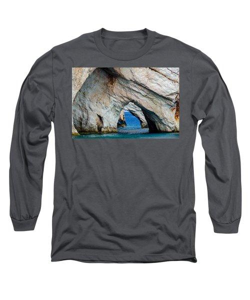 Blue Caves 2 Long Sleeve T-Shirt by Rainer Kersten