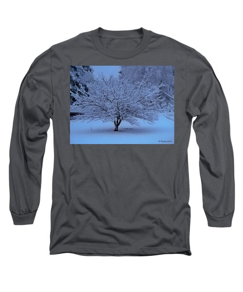 Long Sleeve T-Shirt featuring the photograph Blue Christmas by Betty Northcutt