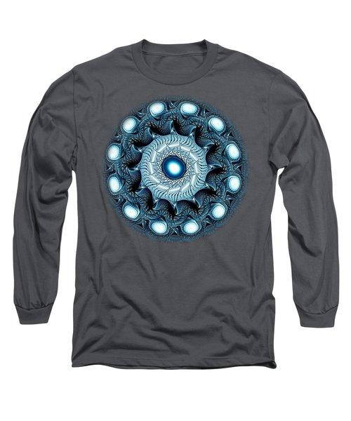 Blue Circle Long Sleeve T-Shirt by Anastasiya Malakhova