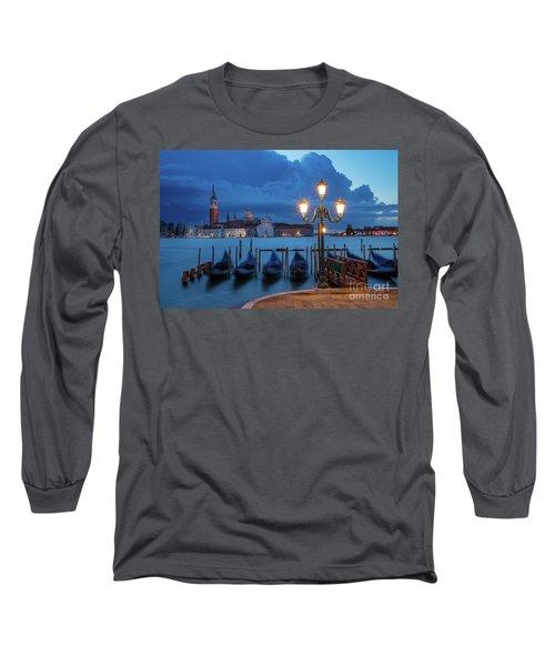 Long Sleeve T-Shirt featuring the photograph Blue Dawn Over Venice by Brian Jannsen