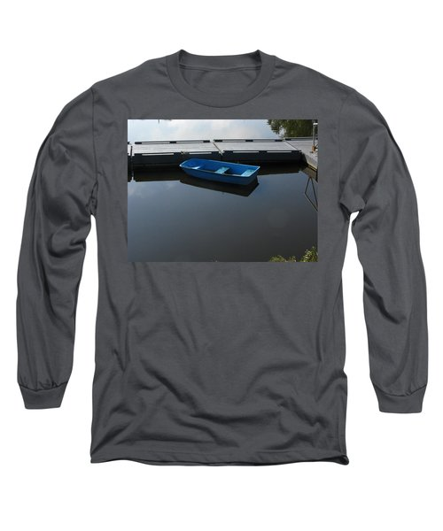 Blue Dinghy Quiet Waters Long Sleeve T-Shirt