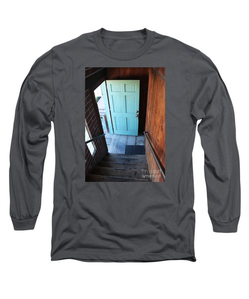 Blue Door Long Sleeve T-Shirt by Cheryl Del Toro