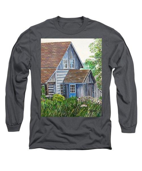 Blue Door Long Sleeve T-Shirt by Marilyn  McNish