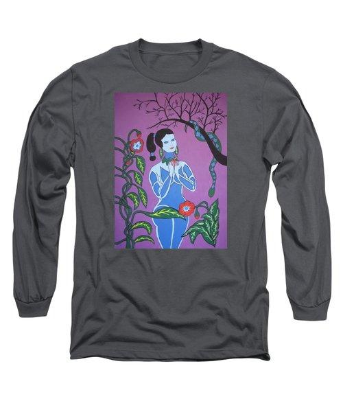 Blue Eve  No. 2 Long Sleeve T-Shirt by Stephanie Moore