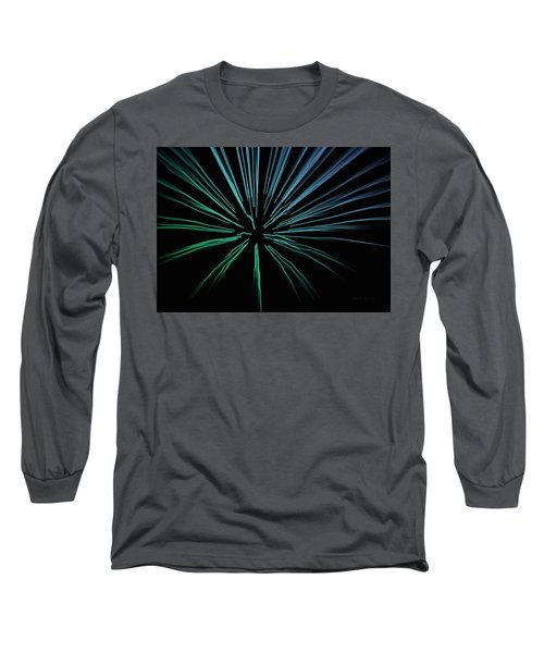 Long Sleeve T-Shirt featuring the photograph Blue Firework by Chris Berry