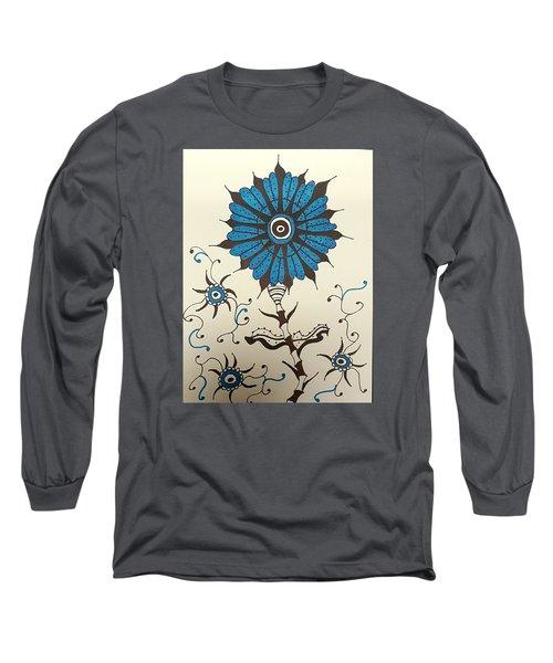 Blue Flower 1 Long Sleeve T-Shirt
