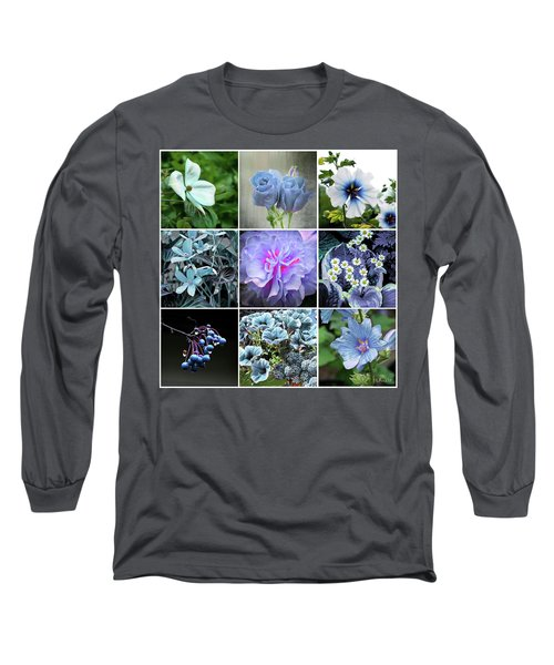 Blue Flowers All Long Sleeve T-Shirt