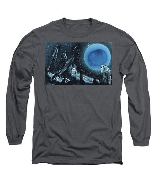 Blue Gloss Long Sleeve T-Shirt