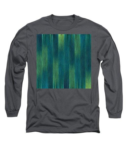 Blue Green Abstract 1 Long Sleeve T-Shirt by Terri Harper