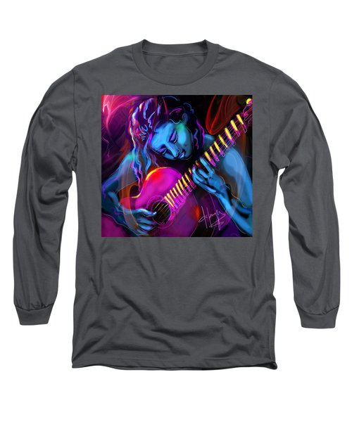 Blue Heart Long Sleeve T-Shirt