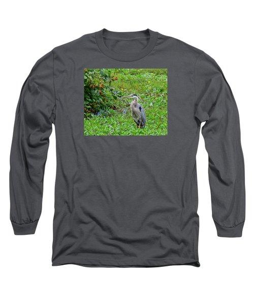Blue Heron Long Sleeve T-Shirt
