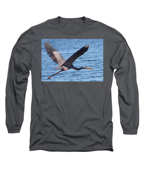 Blue Heron Wingspan Long Sleeve T-Shirt