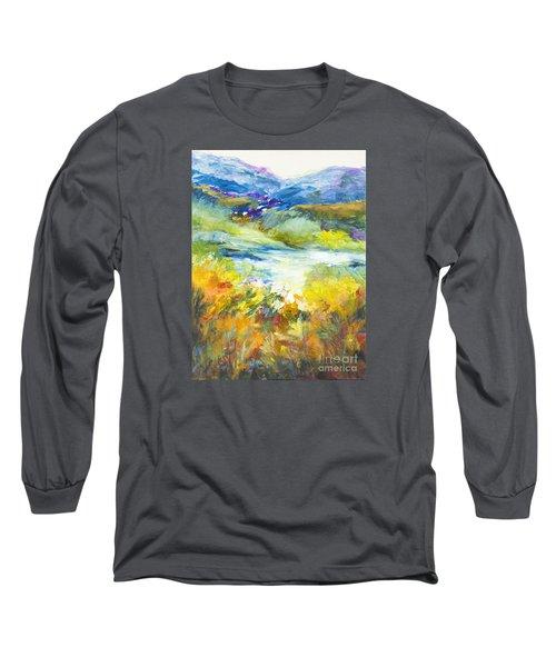 Blue Hills Long Sleeve T-Shirt by Glory Wood