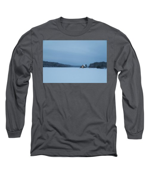Blue Hour At The Old Stone Church Long Sleeve T-Shirt