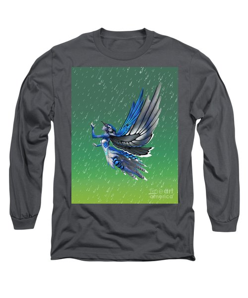 Blue Jay Fairy Long Sleeve T-Shirt by Stanley Morrison