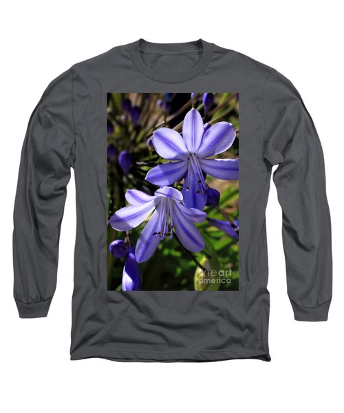 Blue Lily Long Sleeve T-Shirt