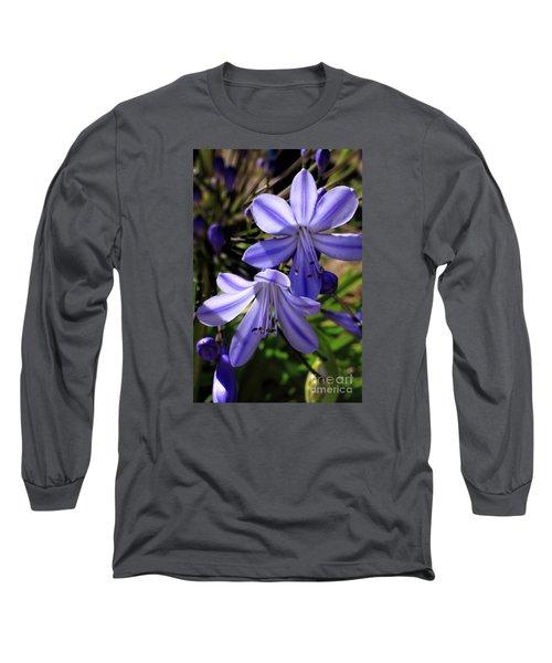 Blue Lily Long Sleeve T-Shirt
