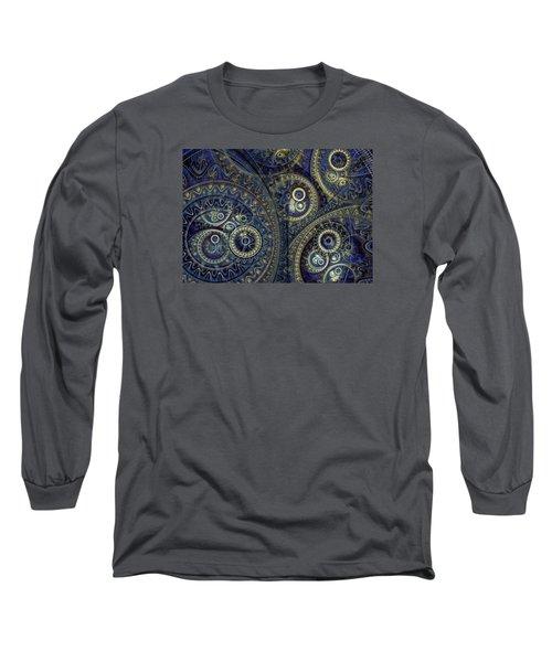 Blue Machine Long Sleeve T-Shirt by Martin Capek