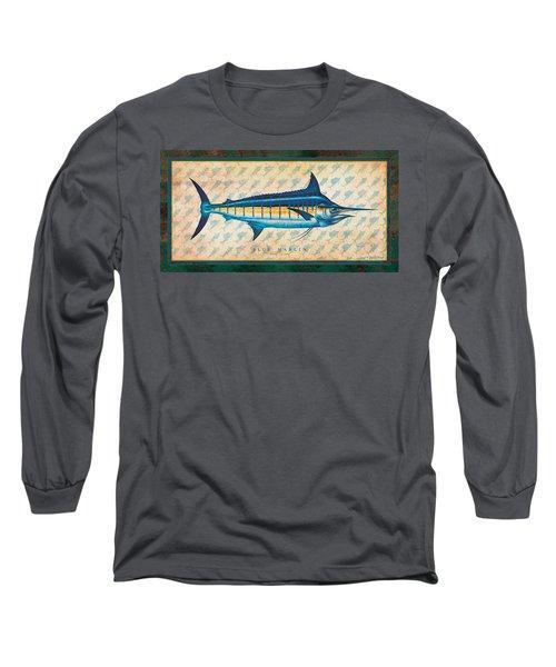 Blue Marlin Long Sleeve T-Shirt by Jon Q Wright