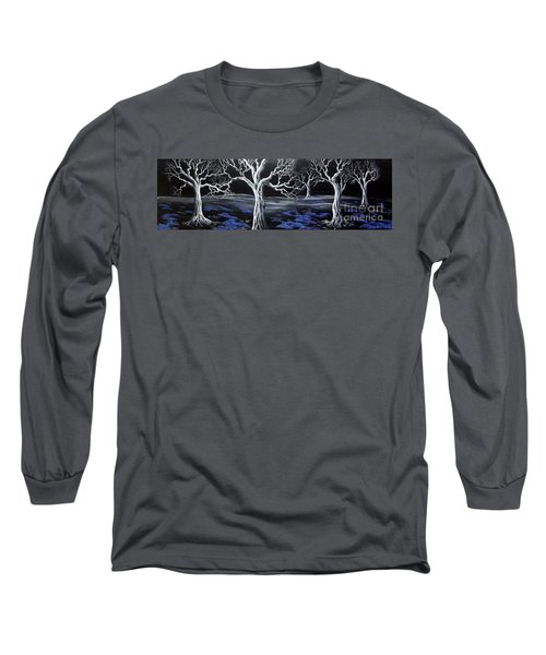 Blue Medadow Long Sleeve T-Shirt by Kenneth Clarke