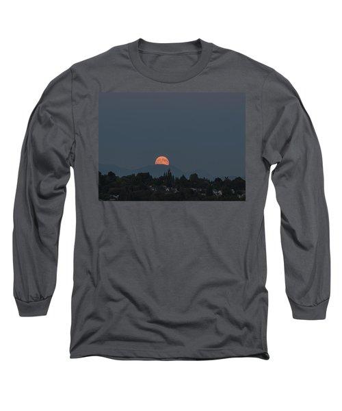 Blue Moon.1 Long Sleeve T-Shirt by E Faithe Lester