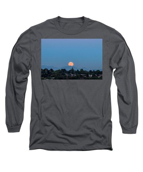 Blue Moon.2 Long Sleeve T-Shirt by E Faithe Lester