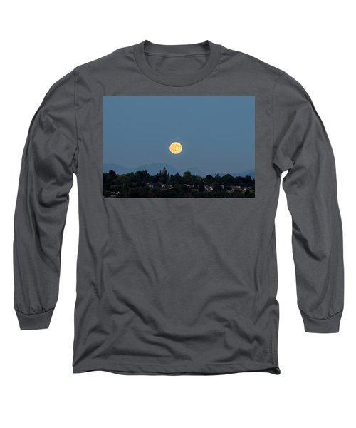 Blue Moon.3 Long Sleeve T-Shirt by E Faithe Lester
