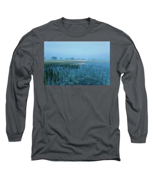 Long Sleeve T-Shirt featuring the photograph Blue Morning Flash by Jorge Maia